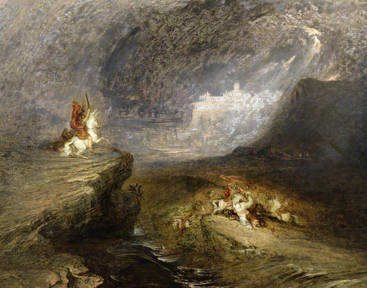 Battle Scene: The Fire-Worshippers