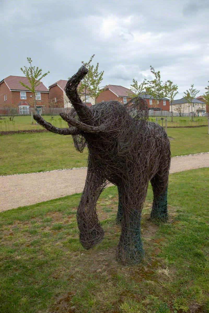 Straight-tusked Elephant & Calf