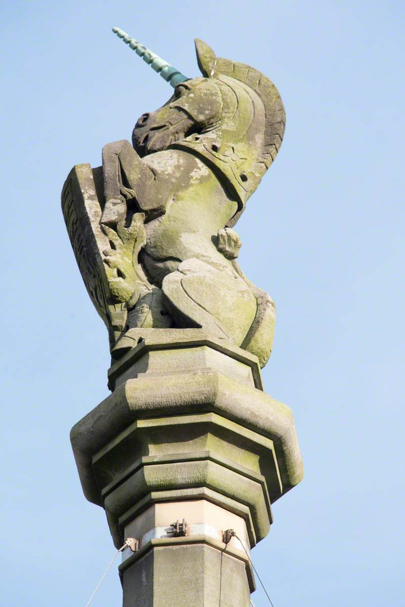 Unicorn and Associated Decorative Carving