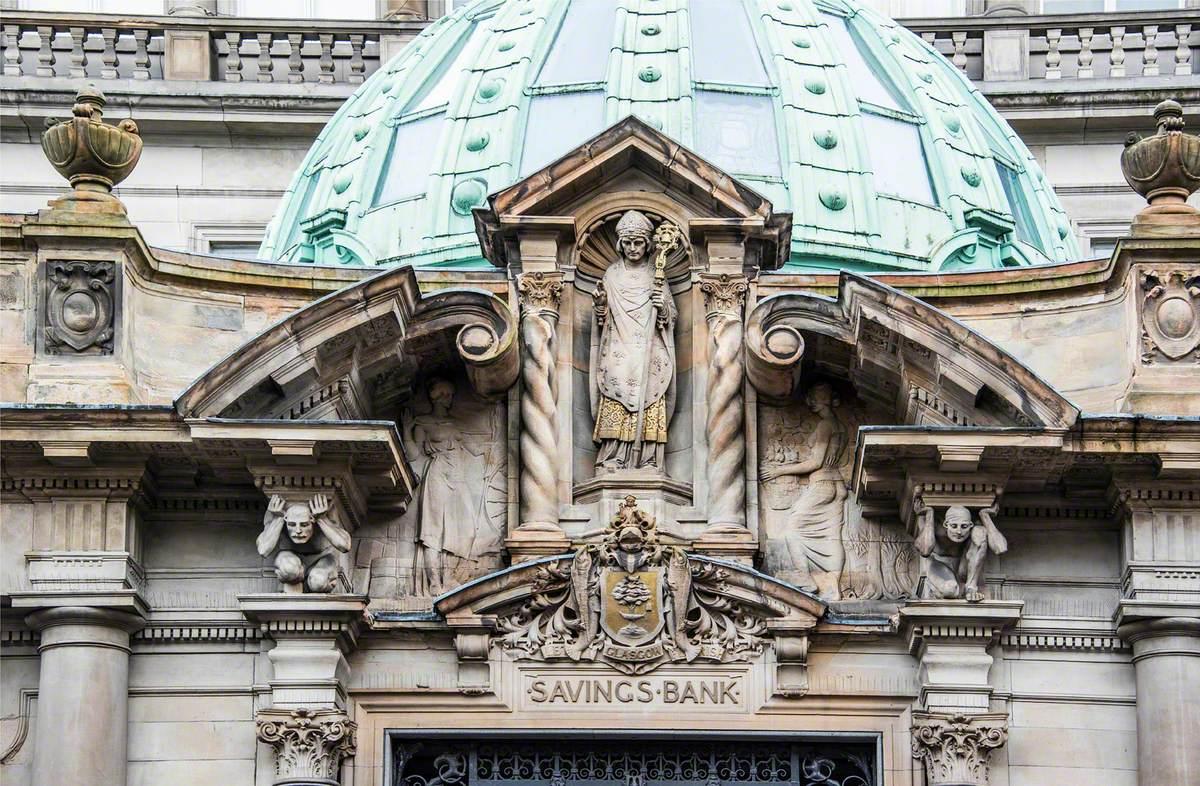 Saint Mungo, Atlantes, Allegorical Figures and Decorative Carving