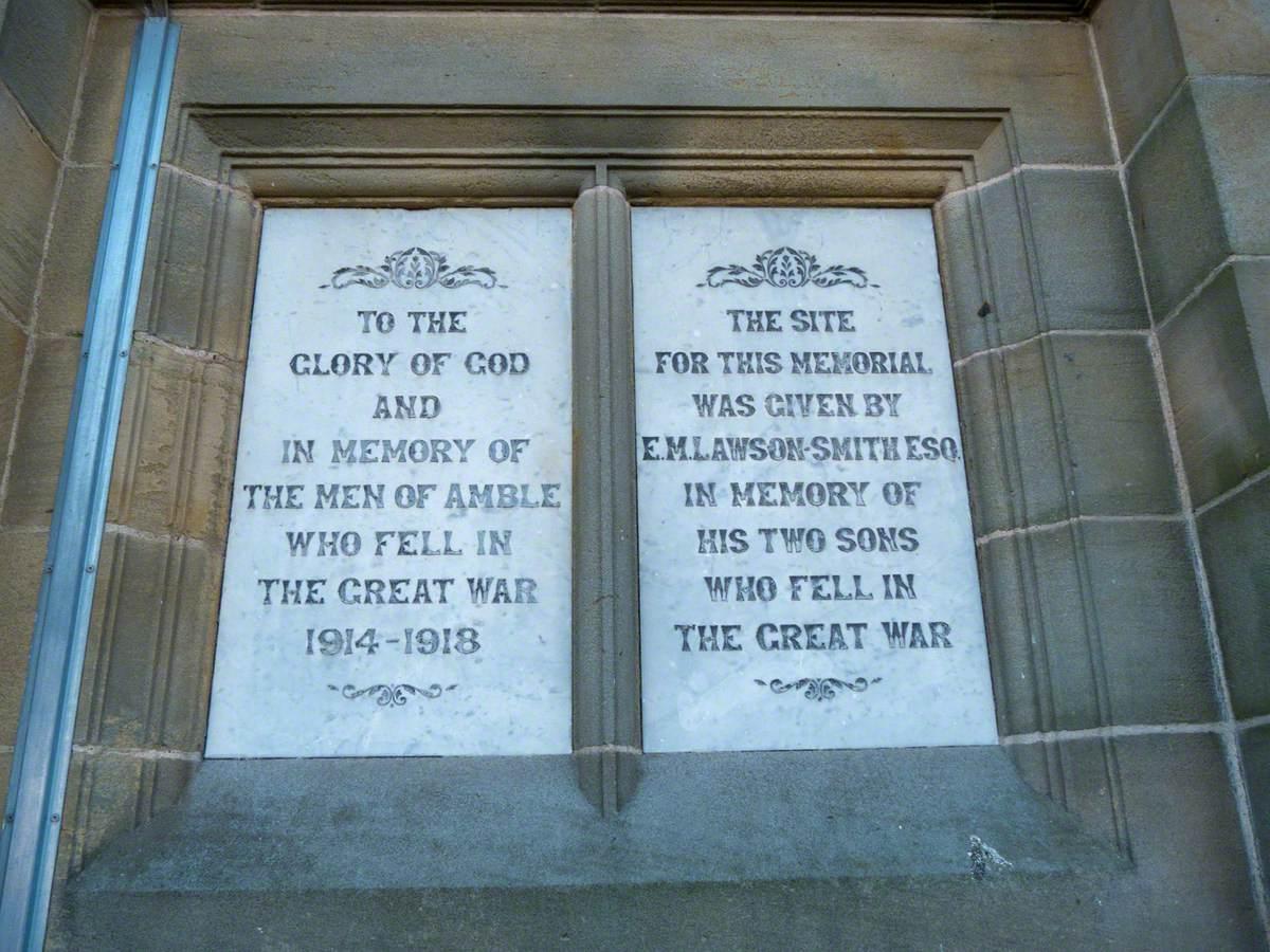Amble War Memorial