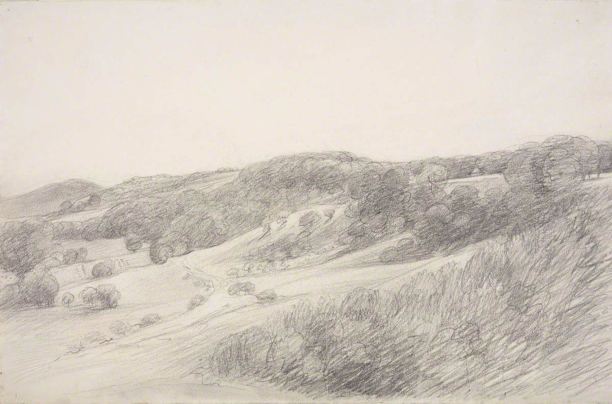 Landscape with Rising Ground