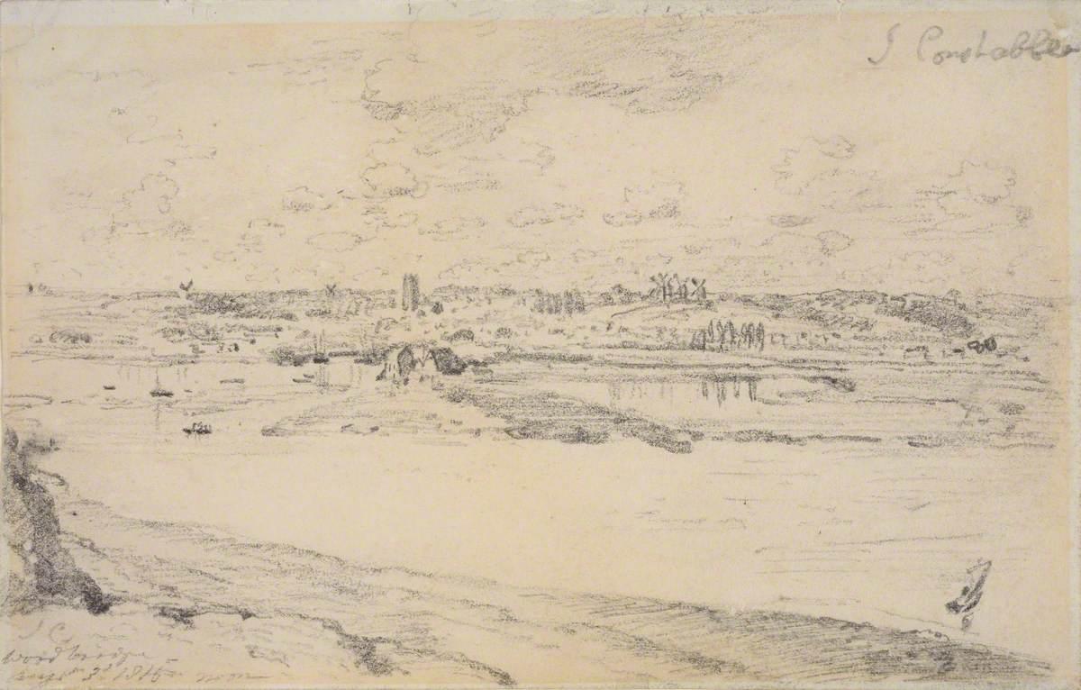 Woodbridge from across the Deben