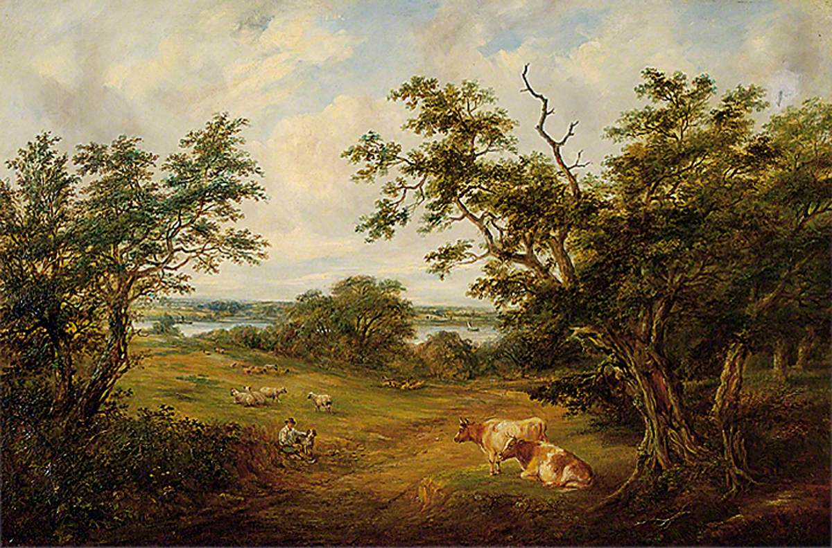 River Orwell from Gainsborough Lane, Suffolk