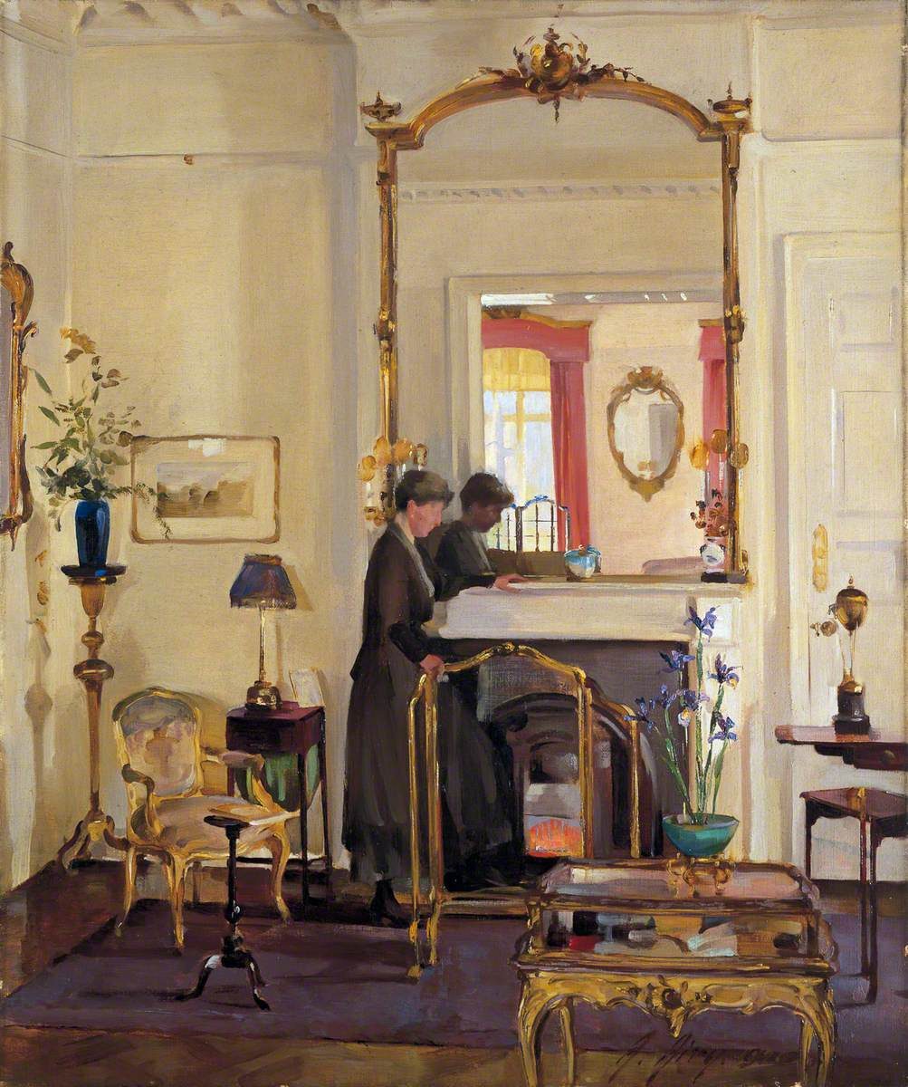 Interior with Mrs Charles Burnand