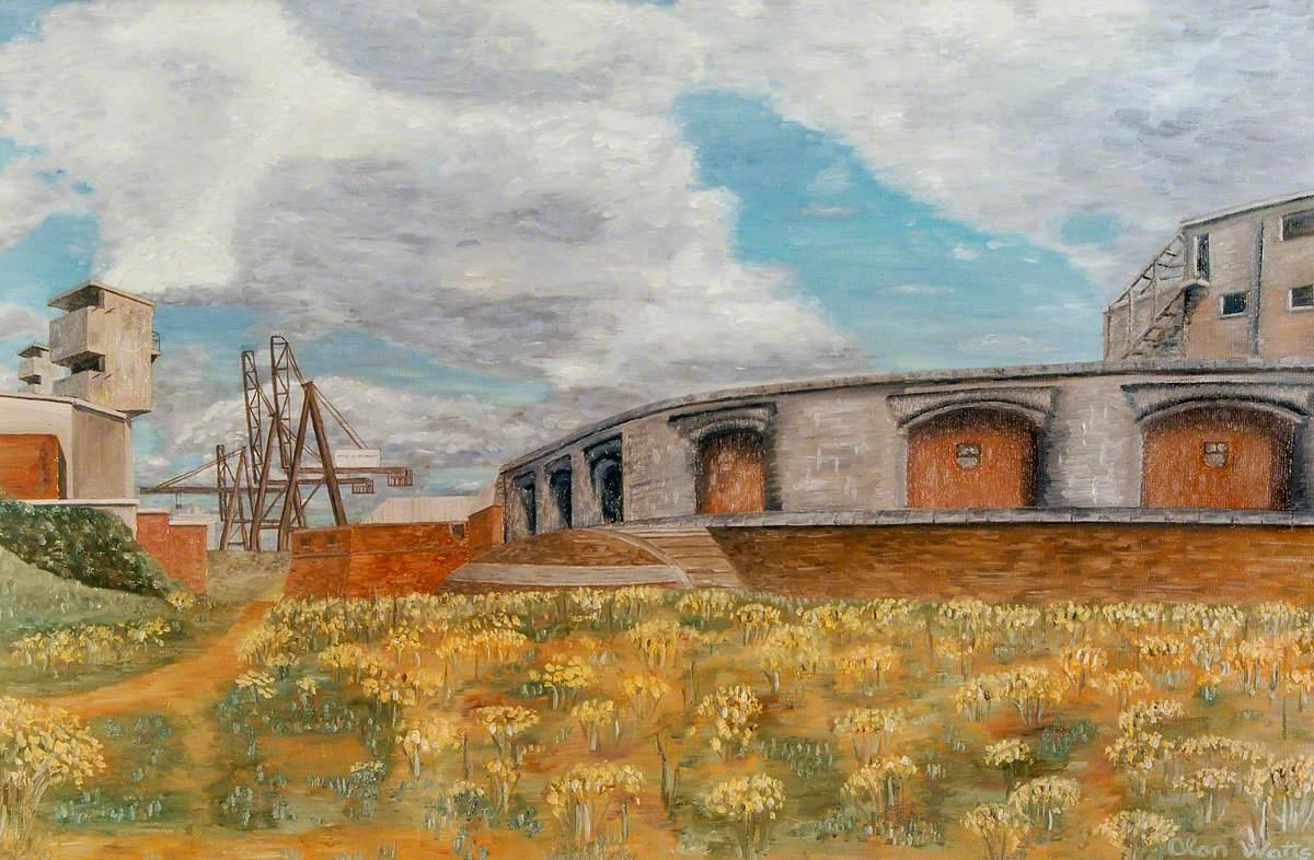 Casemated Battery, Rear of Fortress, Landguard Fort, Felixstowe, Suffolk