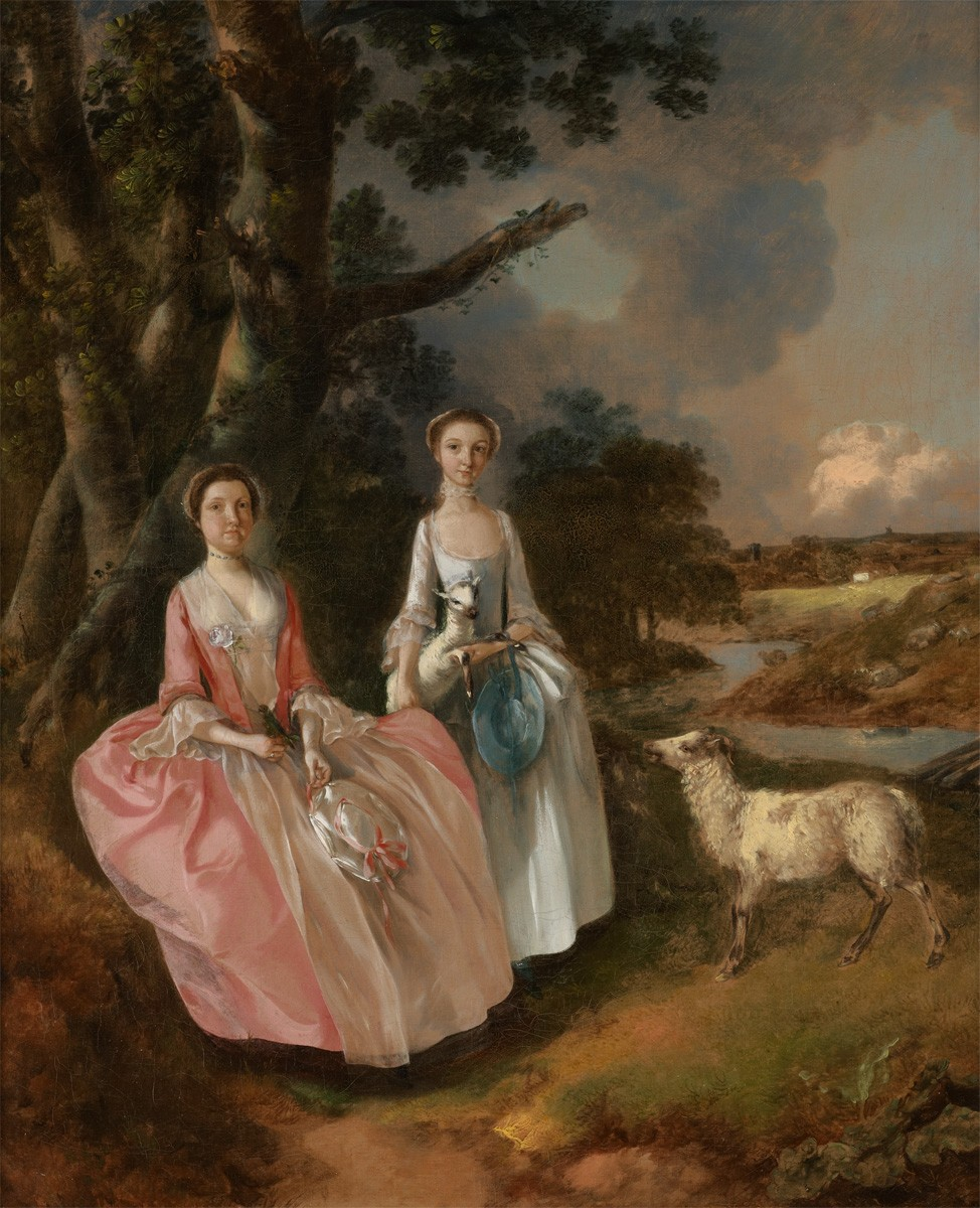 Mrs Mary Cobbold with Her Daughter Anne
