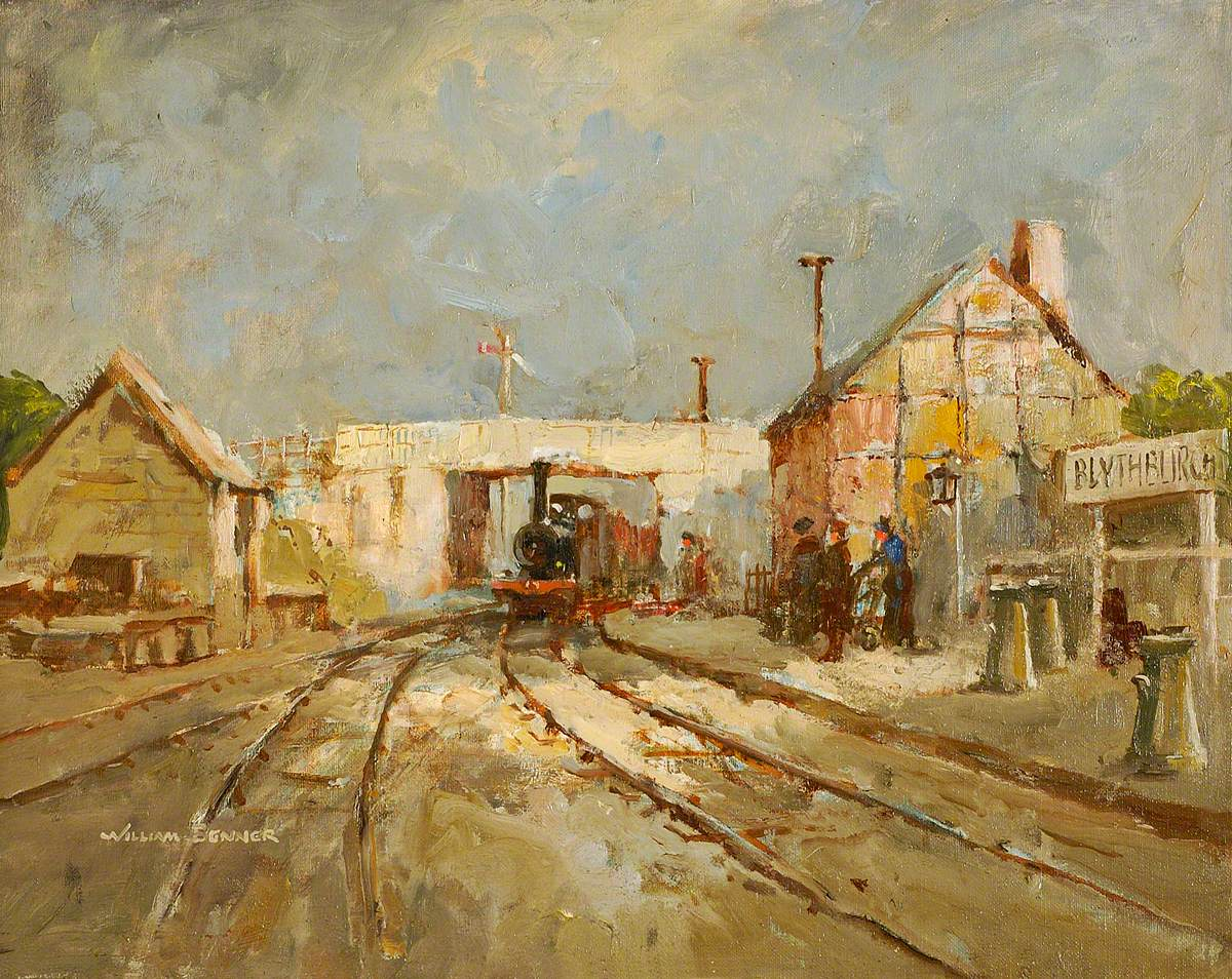 Blythburgh Station at Time of Closing Down of Southwold Railway, Suffolk