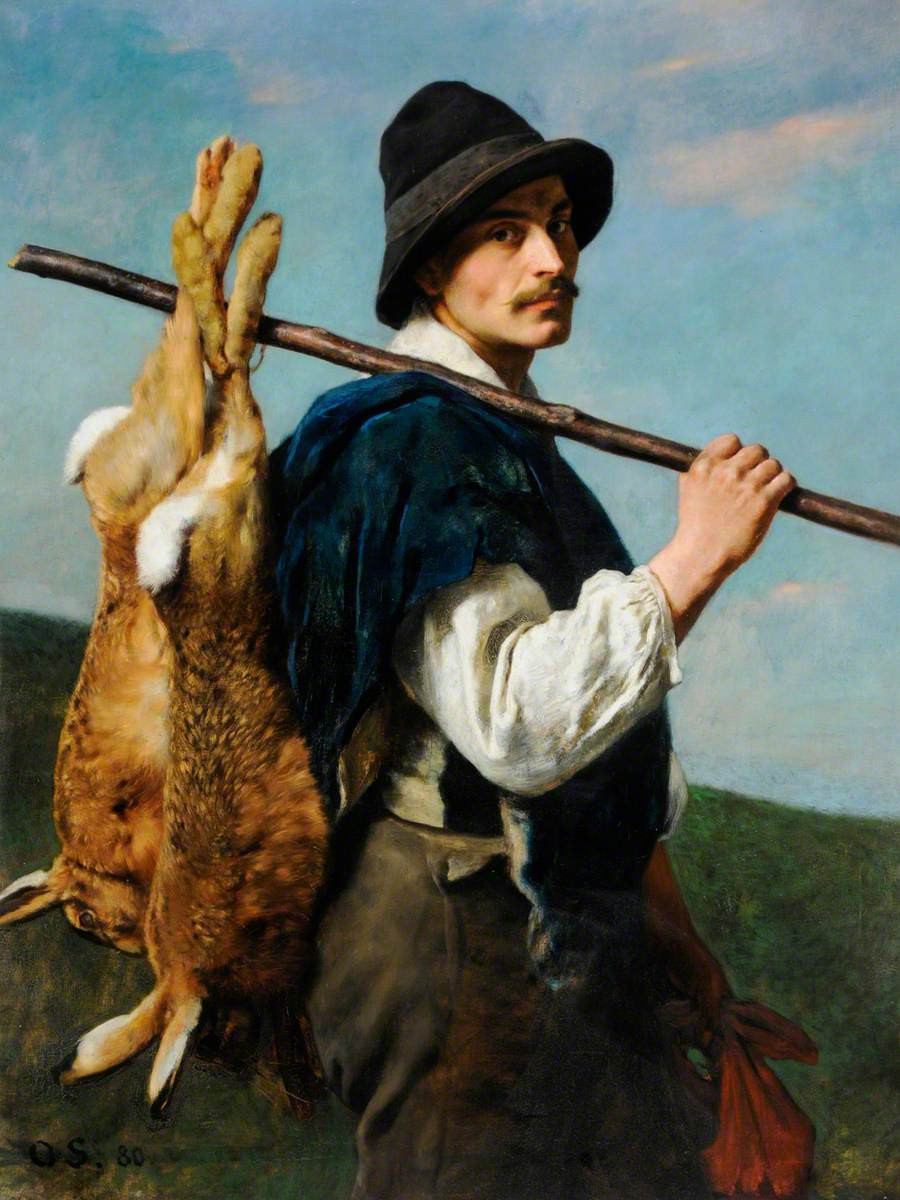 Man and Hares