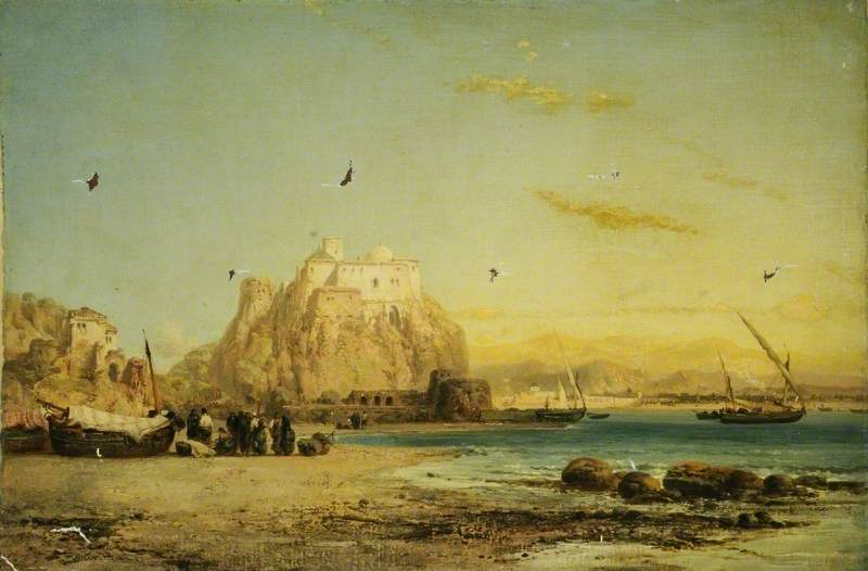 View of a Spanish Mediterranean Coast and Fort