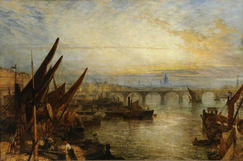 View on the Thames Looking towards St Paul's, London