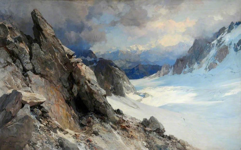 Snow Scene on the Col d'Orny, Valais, Switzerland