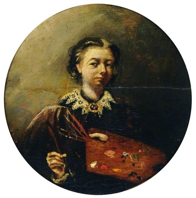 Self Portrait (?) of a Female Painter