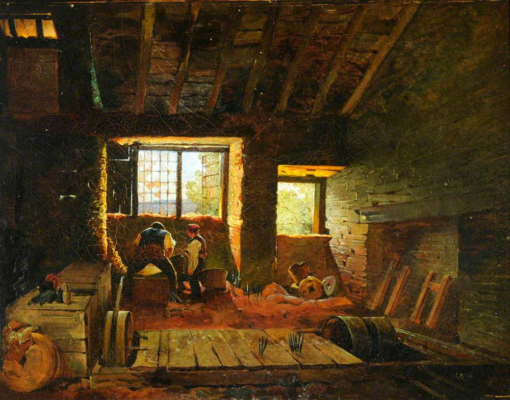 Interior of a Sheffield Grinder's Hull