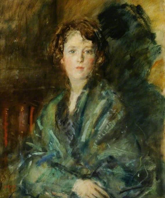Miss Joan Claudia Johnson, in Green