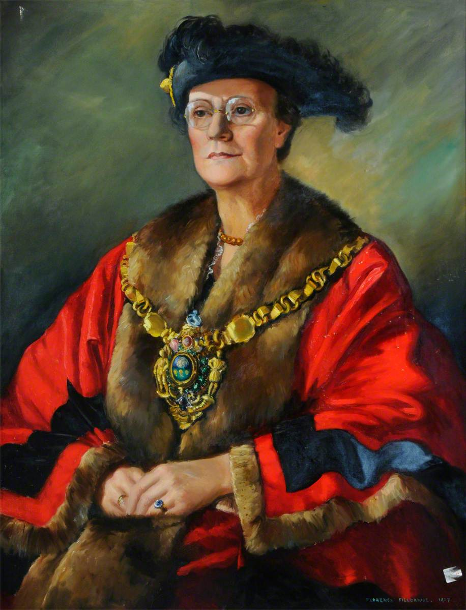 Alderman Mrs A. E. Longden (d.1952), First Lady Lord Mayor of Sheffield