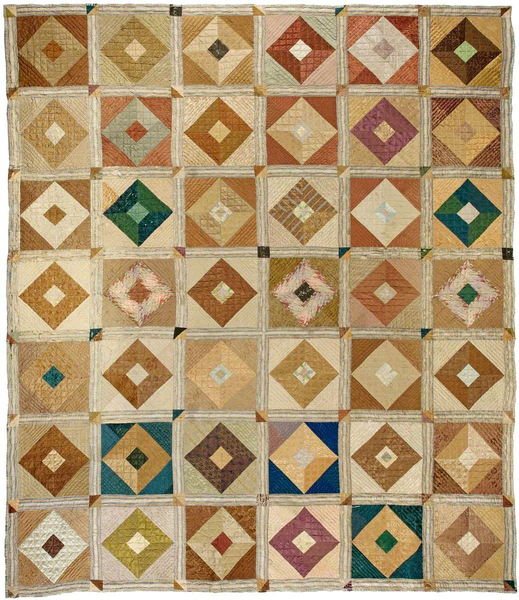 Quaker Square-in-a-Square Quilt