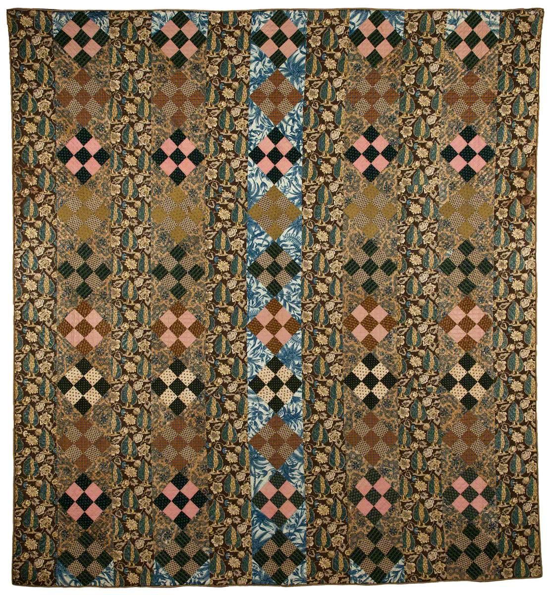 Nine-Patch Strip Quilt