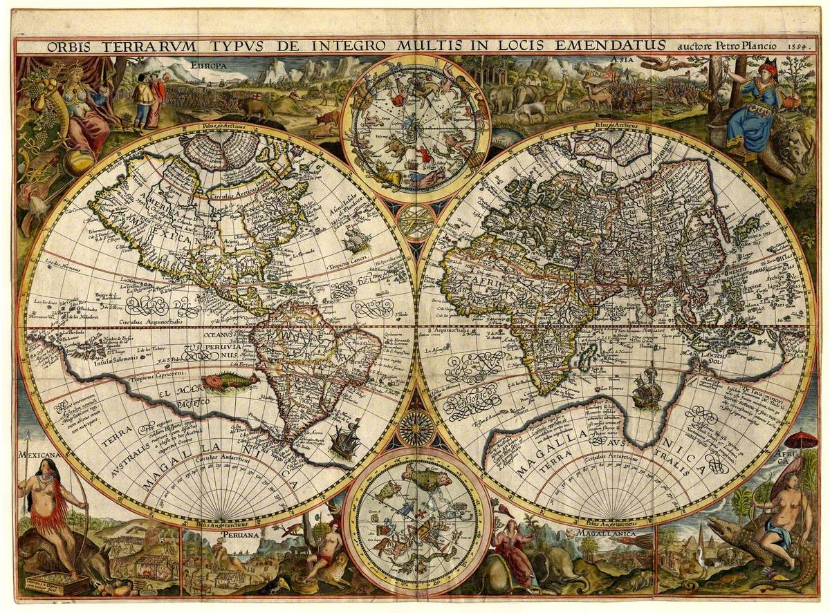 Orbis Terrarum Typus (Double Hemispheric World Map)