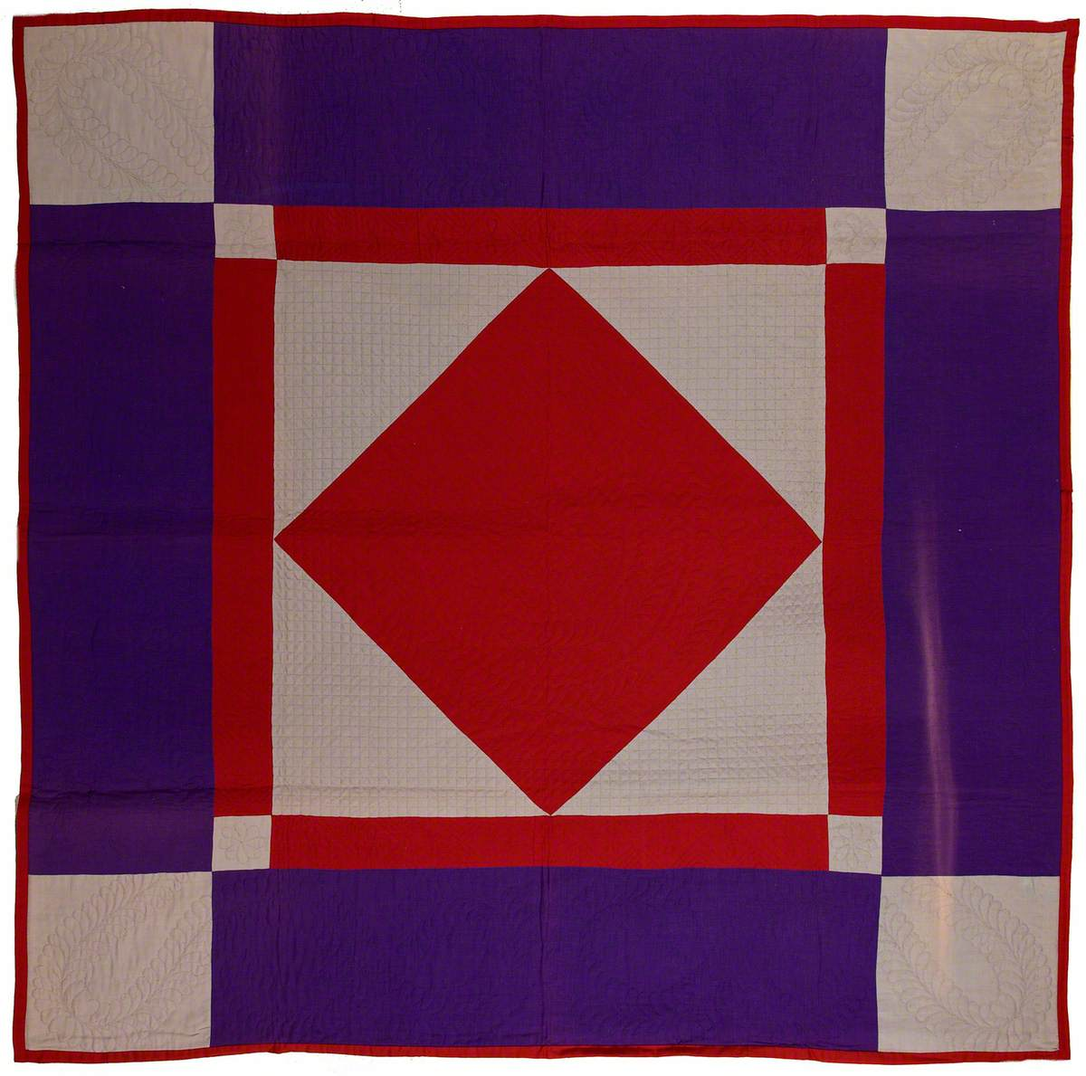 Amish Diamond-in-a-Square Quilt