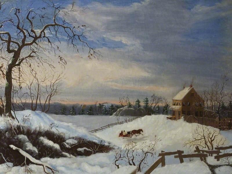 New England Snow Scene