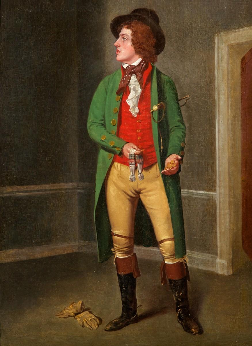 John Fawcett as Jack Nightshade in 'The Choleric Man' by Richard Cumberland, Drury Lane, 1774