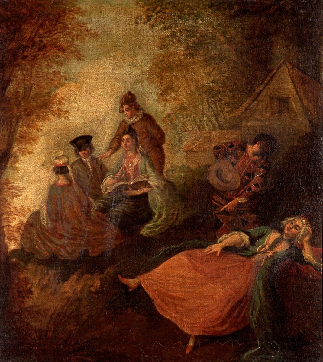 Garden Scene with Figures