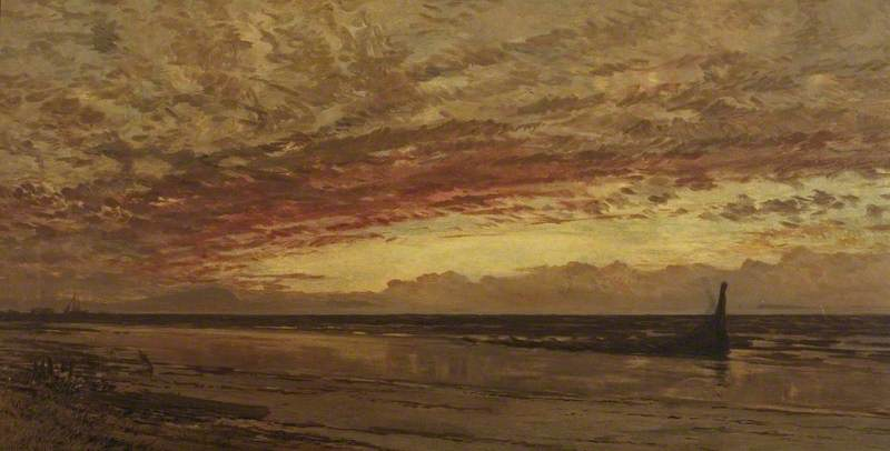Wrecked, a Seascape at Sunset from the Somerset Coast