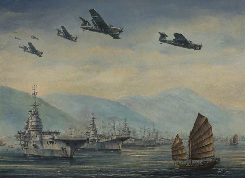 Hong Kong Harbour, 16 September 1945