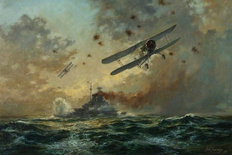 Swordfish Attacking 'Bismarck'