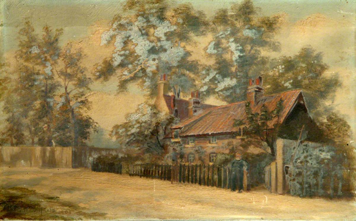 A Cottage on the Corner of Manygate Lane and Rope Walk, Shepperton