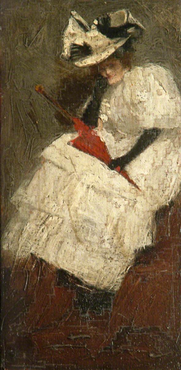Figure of Lady in White