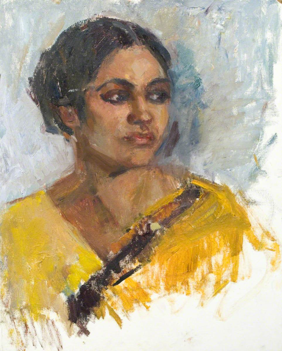 Unfinished Head and Shoulders of an Asian Woman