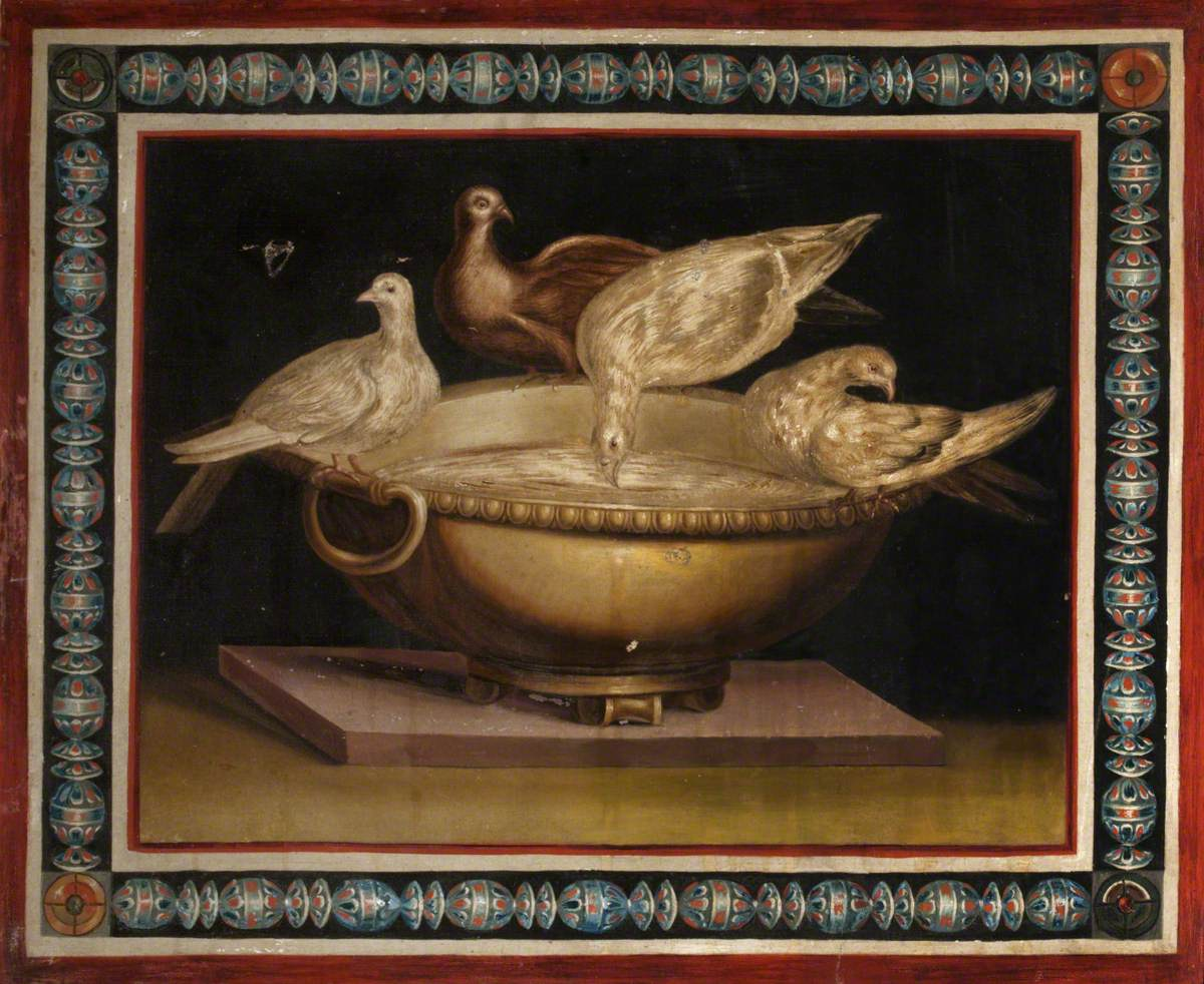 Three Doves Drinking