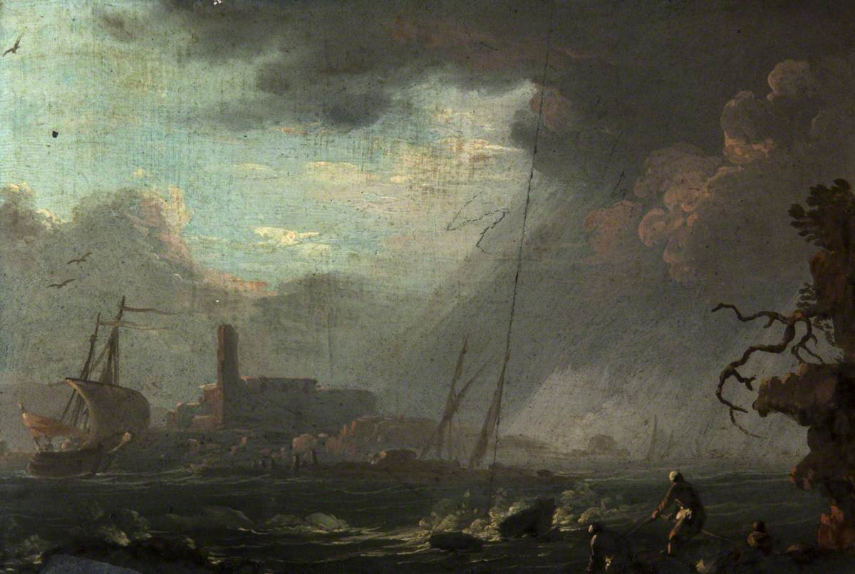A Coastal Scene in the Bay of Naples
