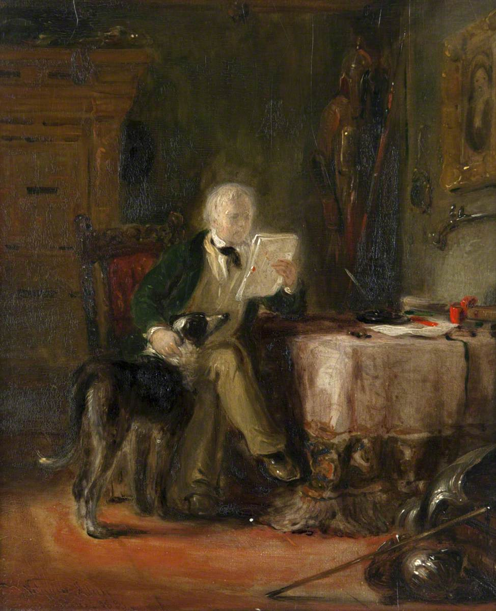 Sir Walter Scott in His Study with His Dog 'Maida'
