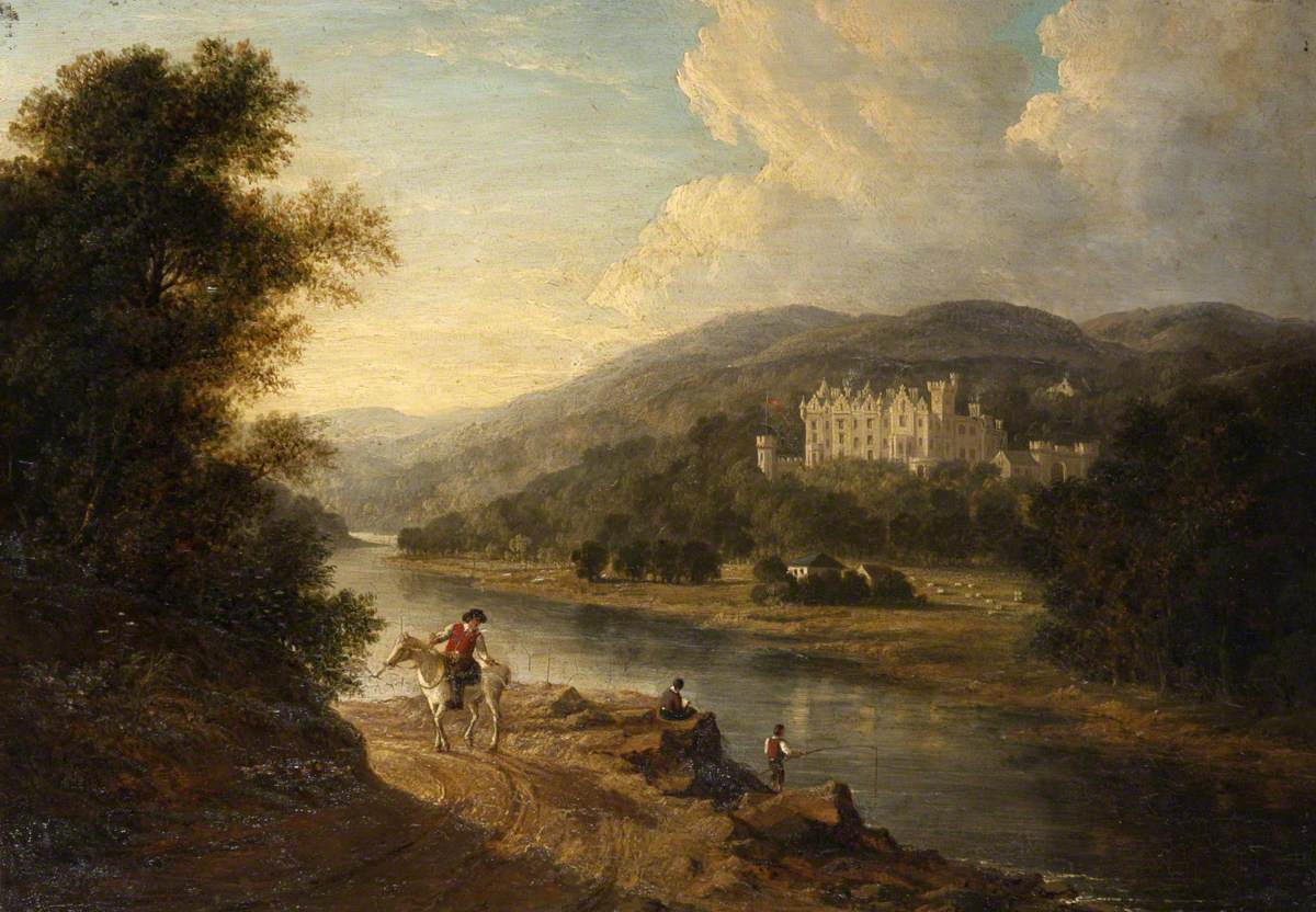 A View of Abbotsford from across the Tweed