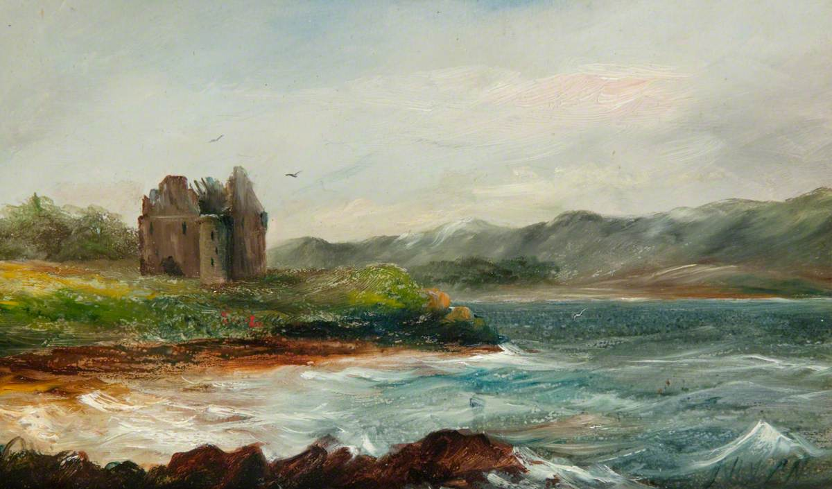 Ruin by a Loch Shore