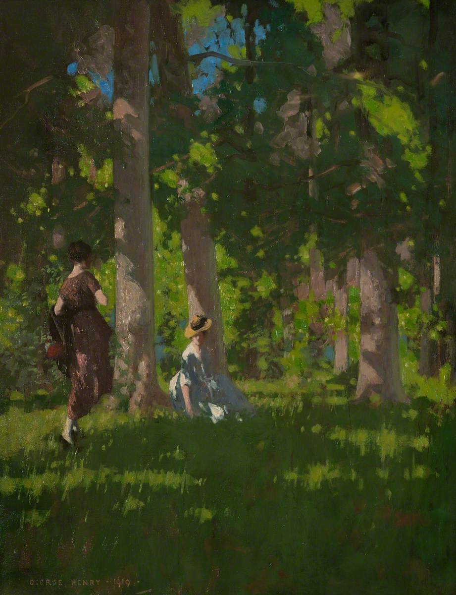 Two Girls in a Wood
