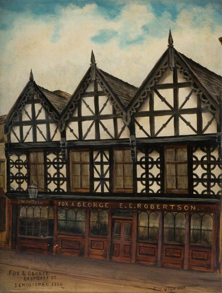 'Fox and George', Eastgate Street, Stafford, Demolished 1904