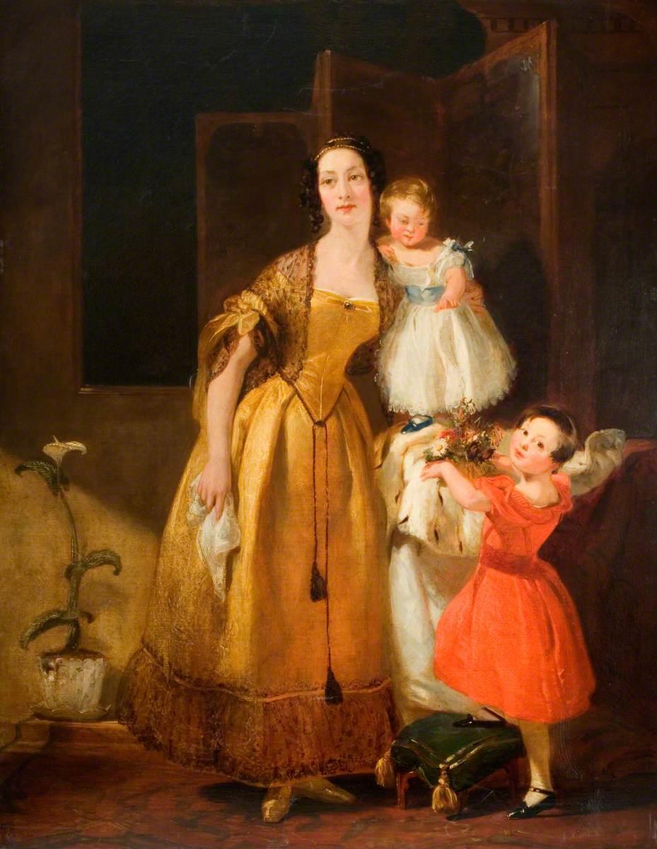 Mrs John Prescott Knight and Her Children