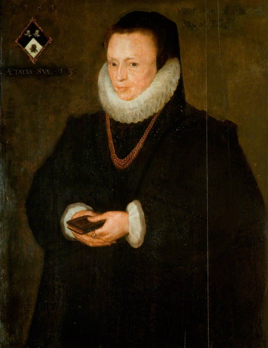 Mary Saunders (d.1608), Lady Bagot