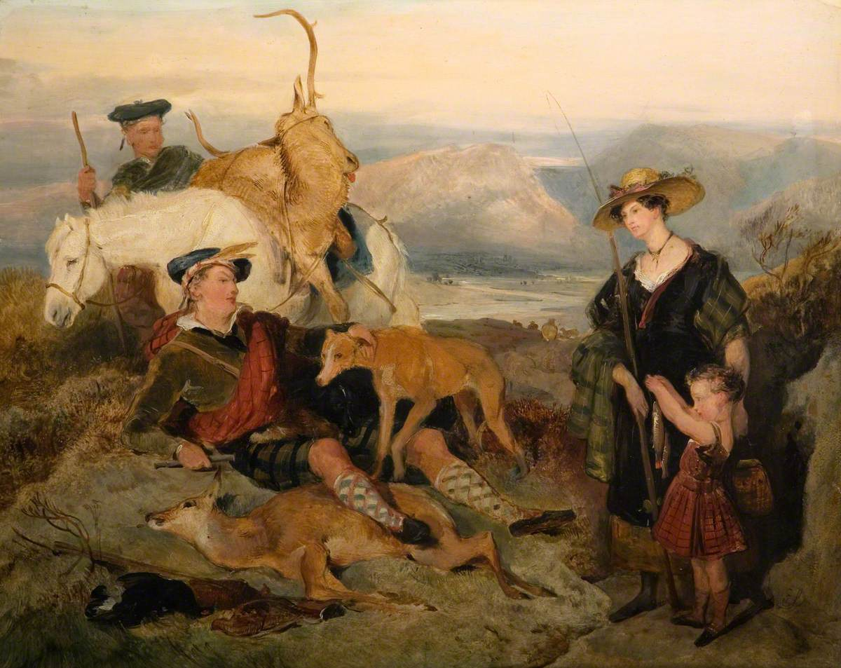 Sketch for 'Deer-Stalking in the Highlands'