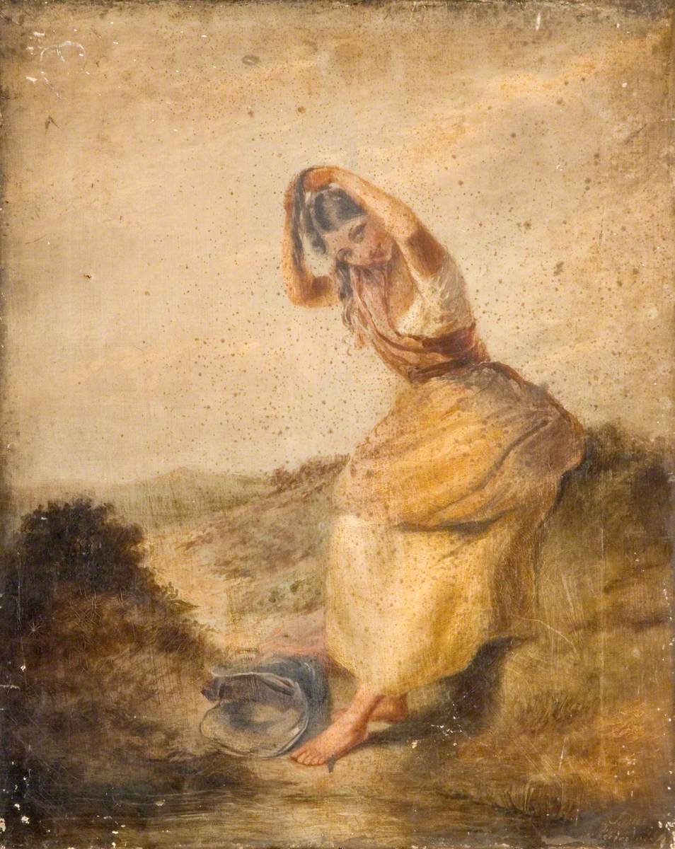 Peasant Girl in Moorland