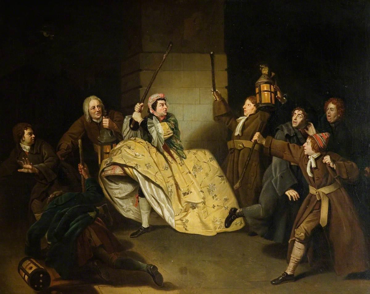 David Garrick as Sir John Brute in Vanbrugh's 'The Provoked Wife'