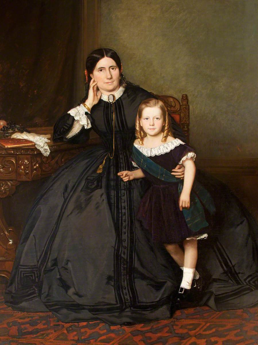 Eliza Crawshay, née Harris, with Her Son