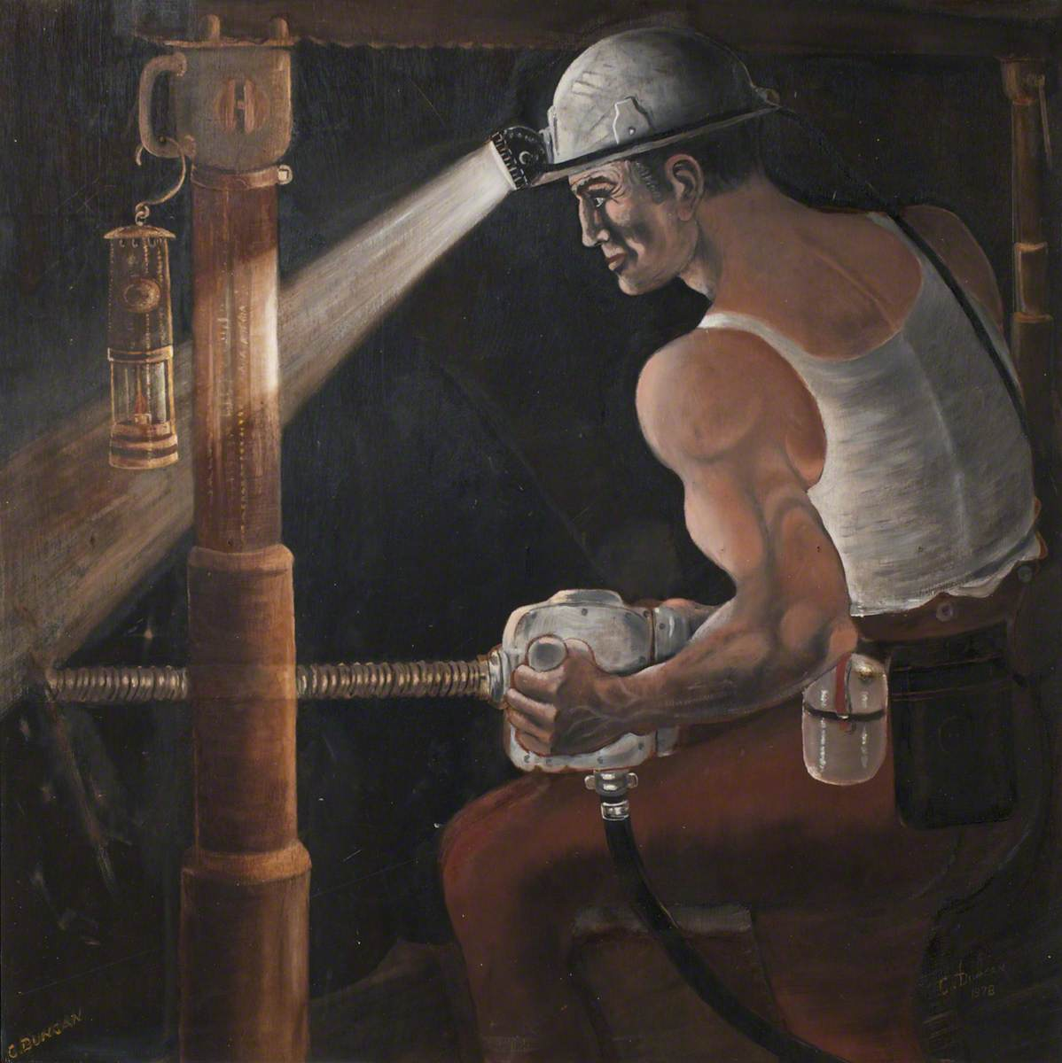 Miner Drilling at the Coalface