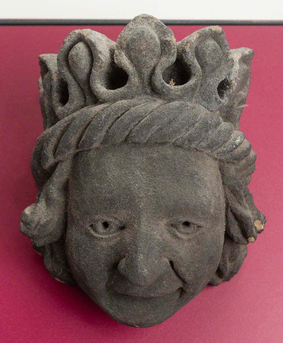 Stone Head with Crown