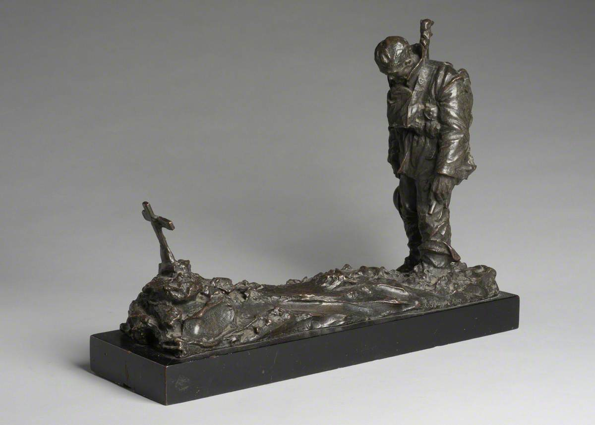 Soldier Mourning a Friend