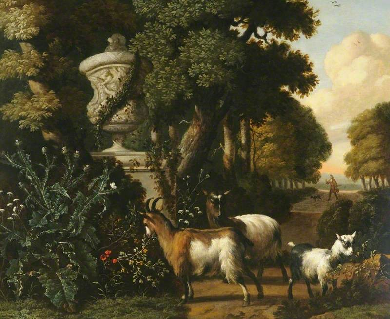 Landscape with Goats